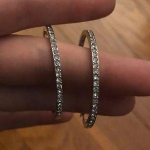 Crystal Pavé Hoop Earrings